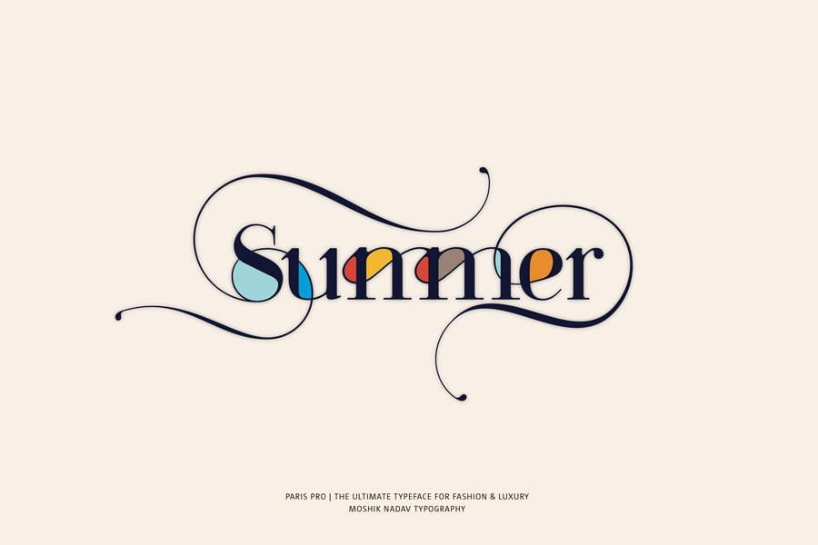 Summer made with Paris Pro Fashion magazine font