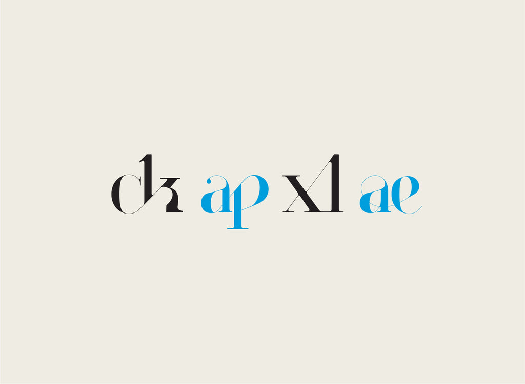 Paris Typeface - original font for fashion and luxury designed by Moshik Nadav Typography