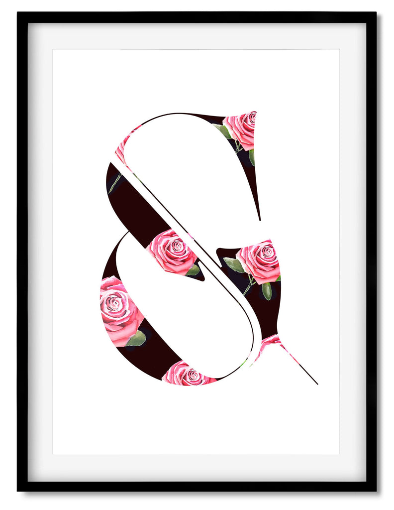 Super sexy ampersand poster designed by Moshik Nadav Typography