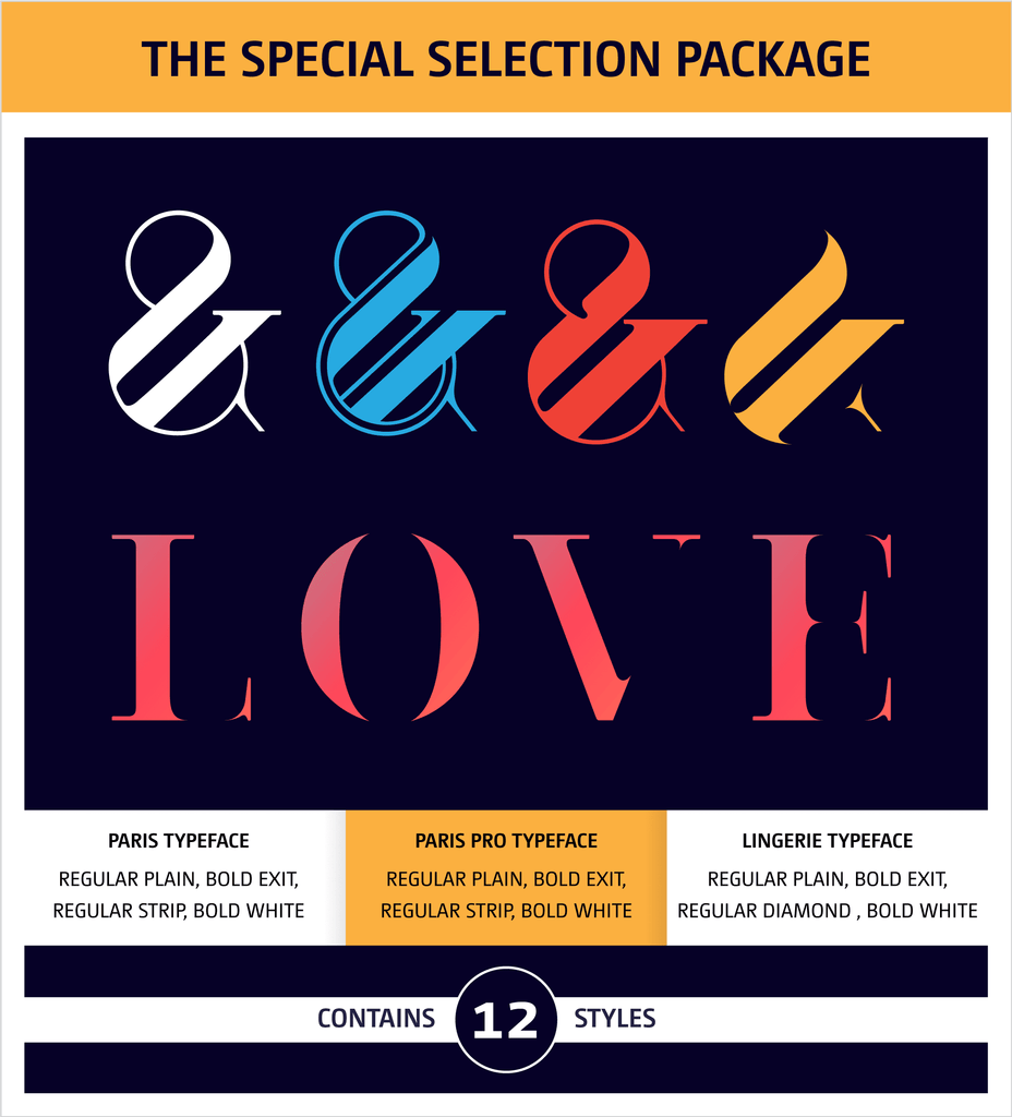 Moshik Nadav Typography Fonts Packages Paris Pro Typeface