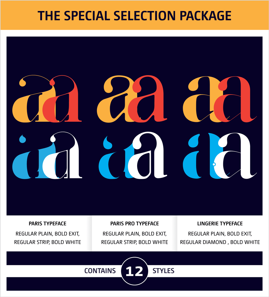 THE SPECIAL FONTS SELECTION PACKAGE