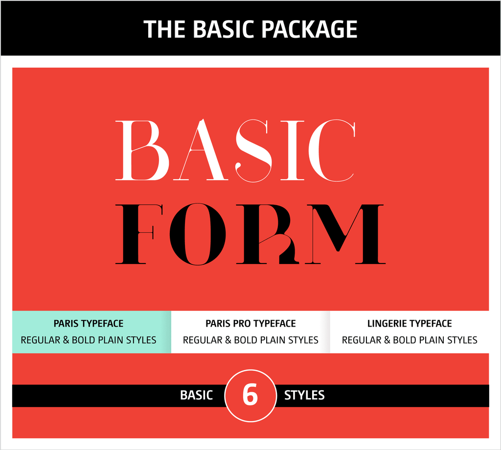 Moshik Nadav Fashion Typography Fonts Packages - Paris Typeface