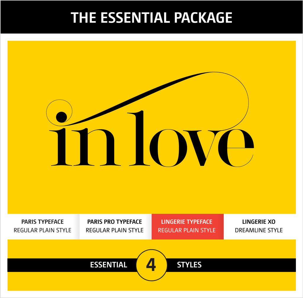 Moshik Nadav Typography Fonts Packages - Lingerie Typeface