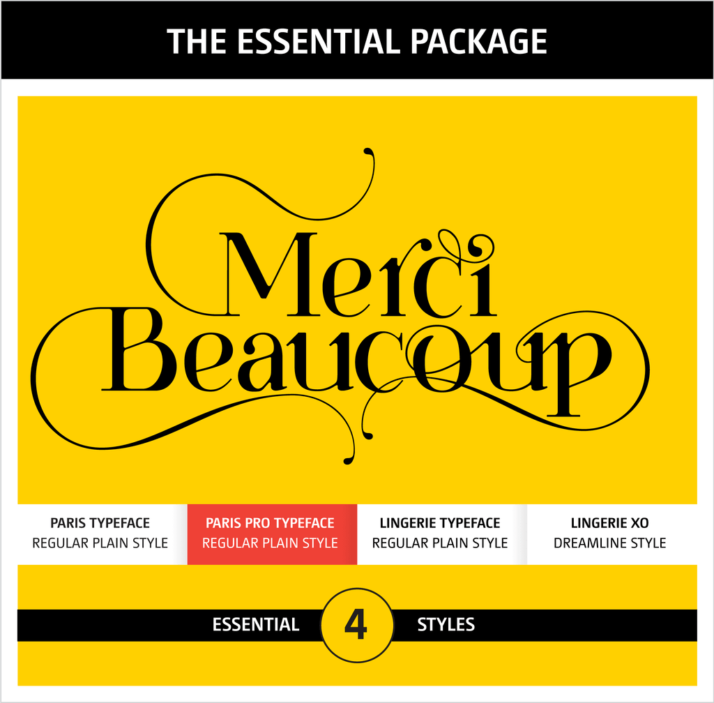 Moshik Nadav Typography Fonts Packages - Paris Pro Typeface