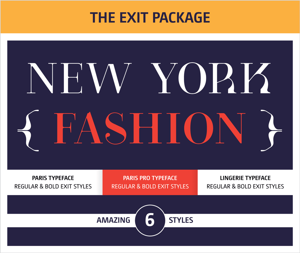 Moshik Nadav Fashion Typography Fonts Packages - Paris Pro Typeface