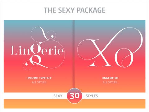 The Sexy Fonts Package - Moshik Nadav Fashion Typography