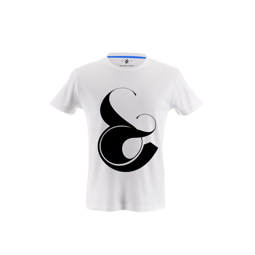 Playful ampersand T-shirt by Moshik Nadav Typography