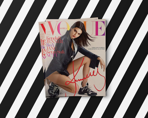 Vogue magazine is using Lingerie Typeface new to Kendall Jenner