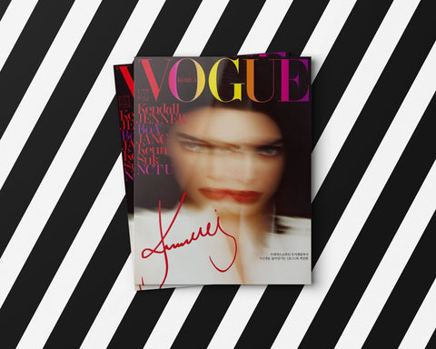 Kendall Jenner on Vogue Magazine using Lingerie Typeface a font for fashion magazines