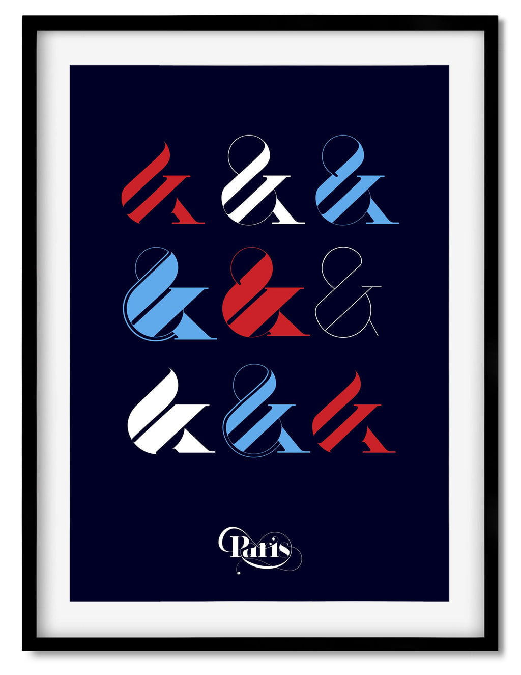 Paris Typeface ampersand collection poster by Moshik Nadav Typography