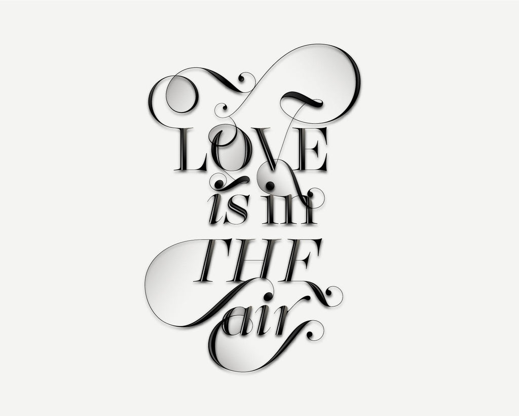Love is in the air font - Made with the fashion Lingerie Typeface by Moshik Nadav Typography