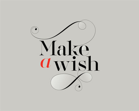 Make a wish font - Made with the fashion Lingerie Typeface by Moshik Nadav Typography