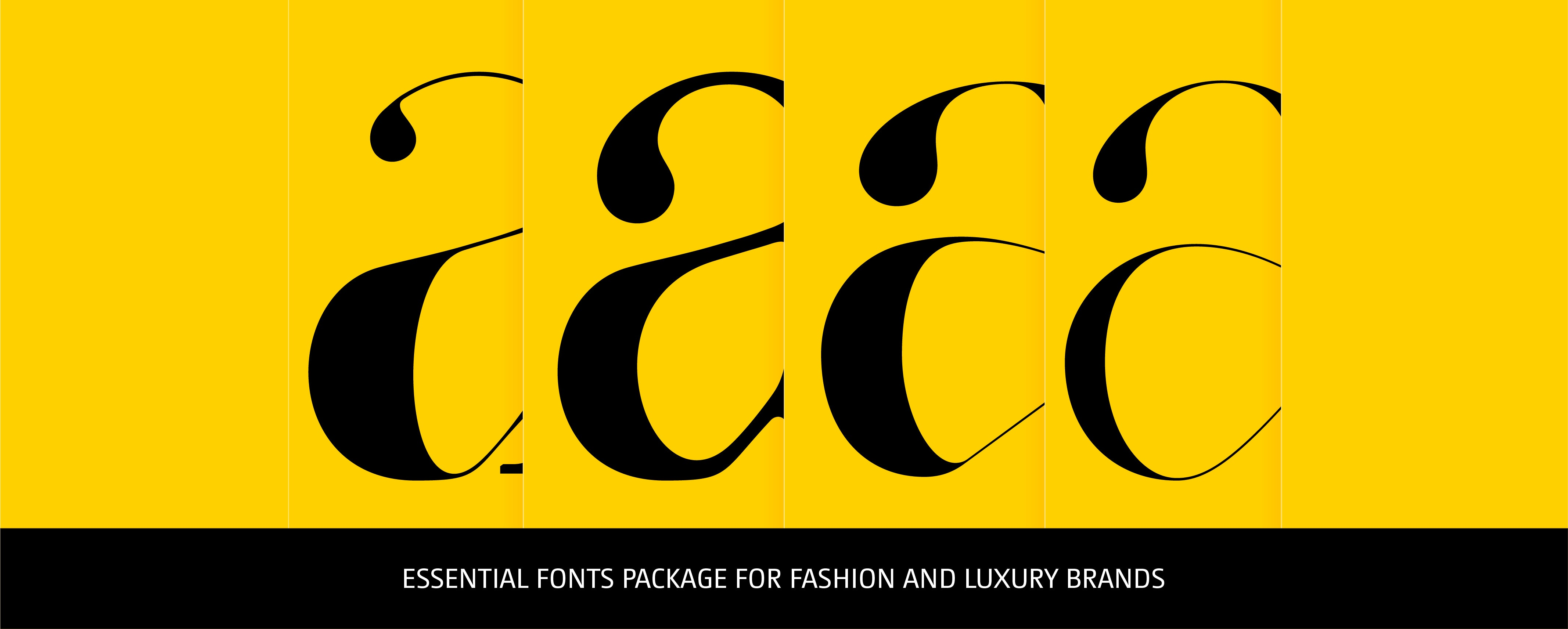 The Essential Fonts Package - Moshik Nadav Fashion Typography