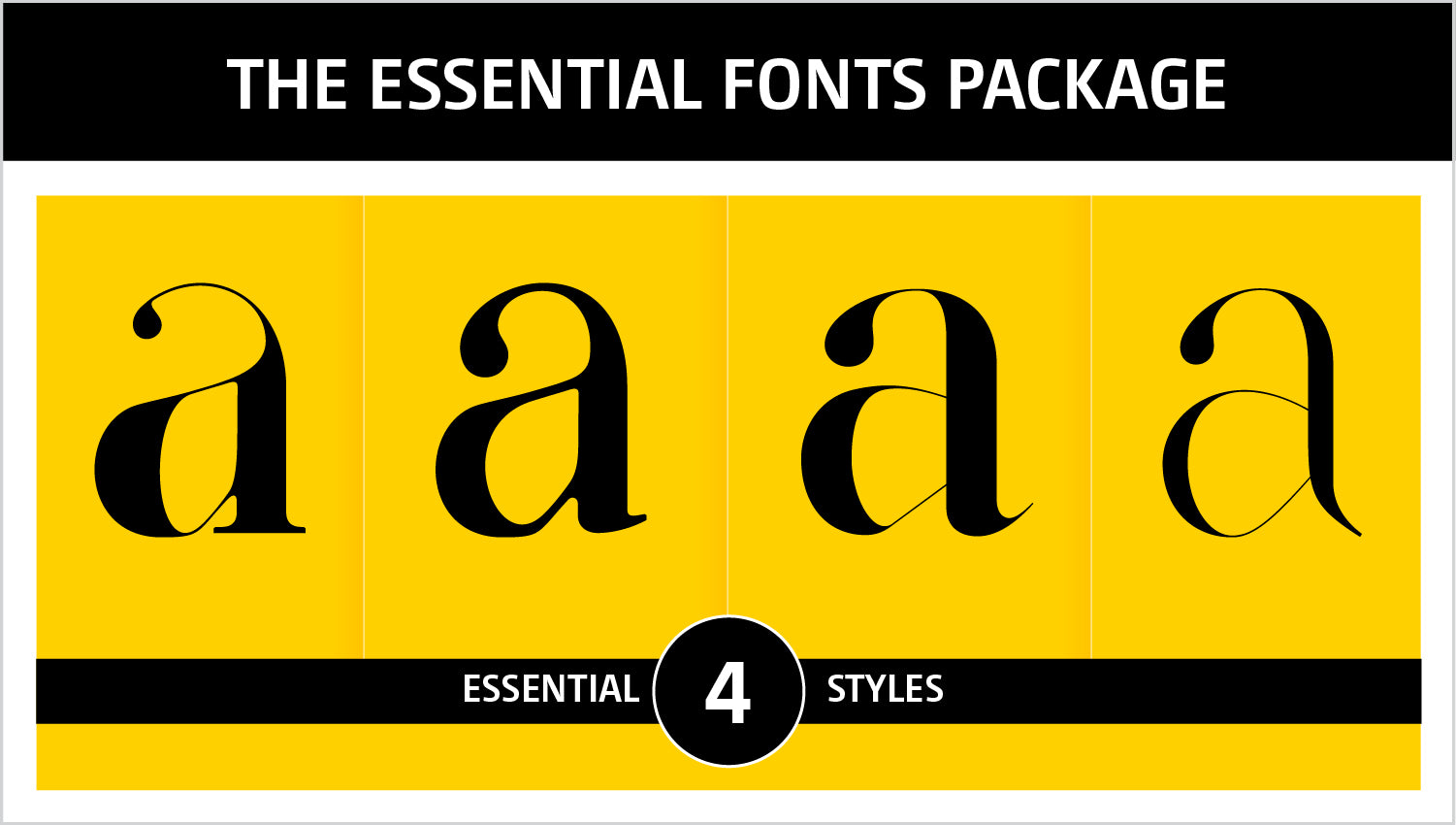 The essential fonts package
