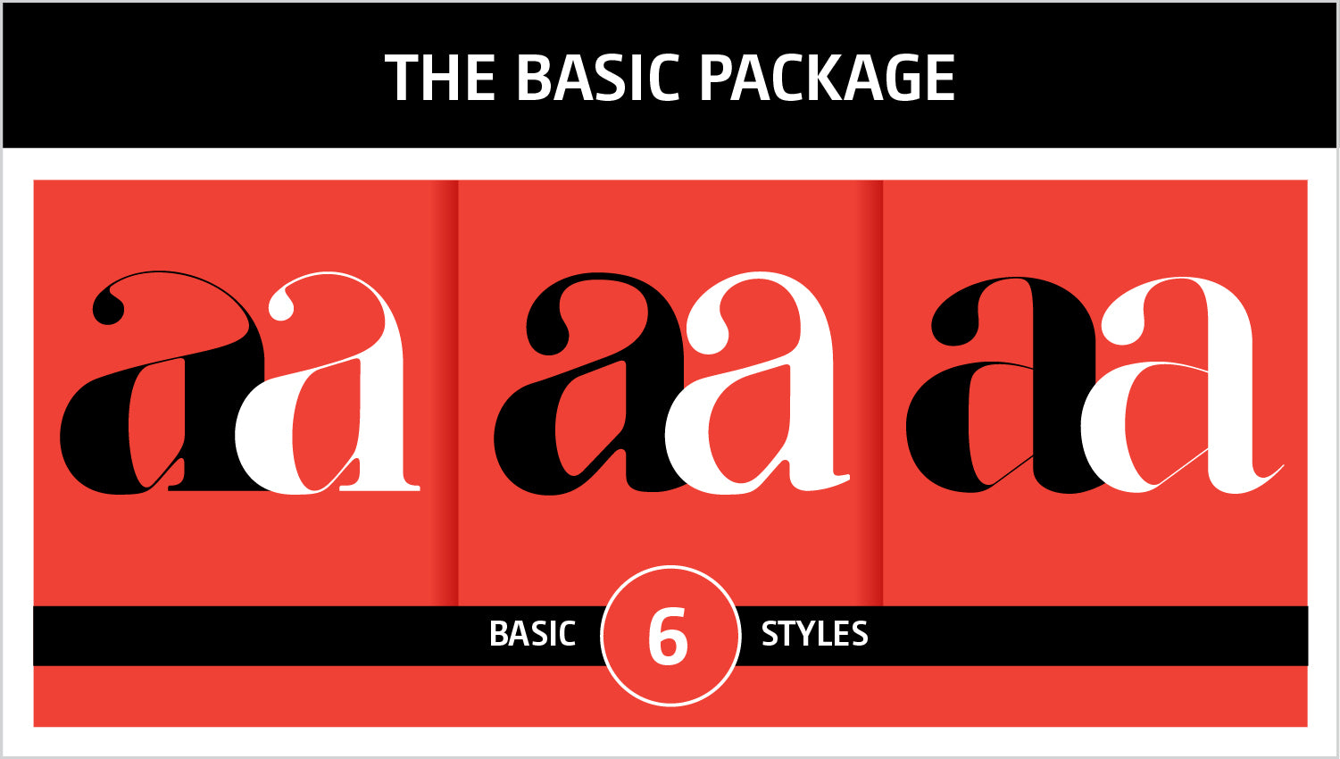 The Basic fonts package by Moshik Nadav Typography