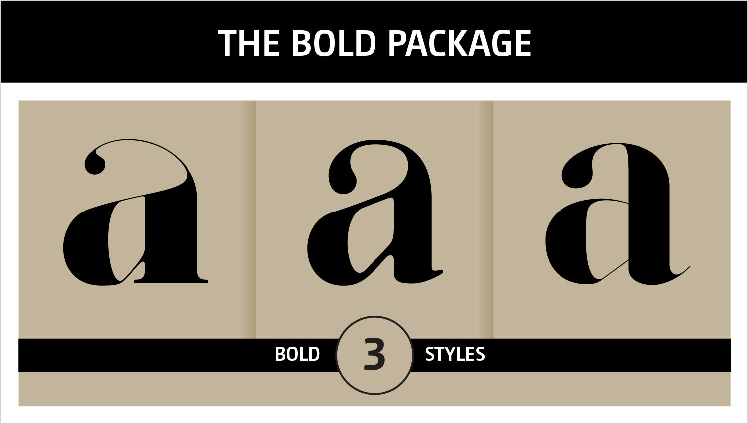 The Bold Fonts Package