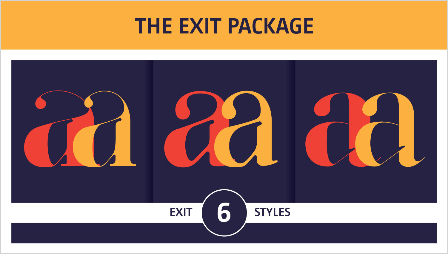 The Exit Fonts Package by Moshik Nadav Fashion Typography NYC