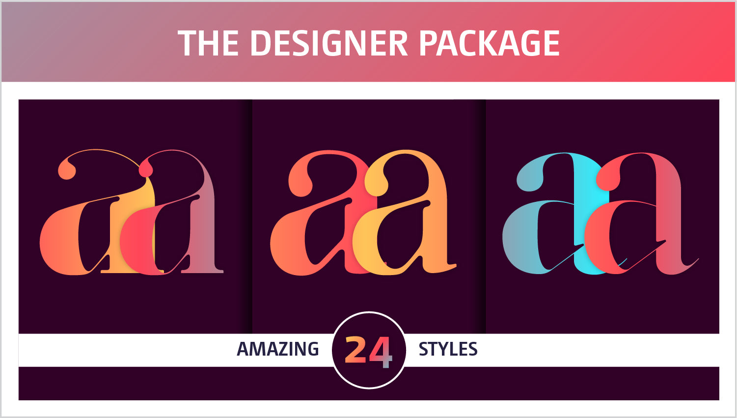 The Designer Fancy Fonts Package by Moshik Nadav Typography NYC