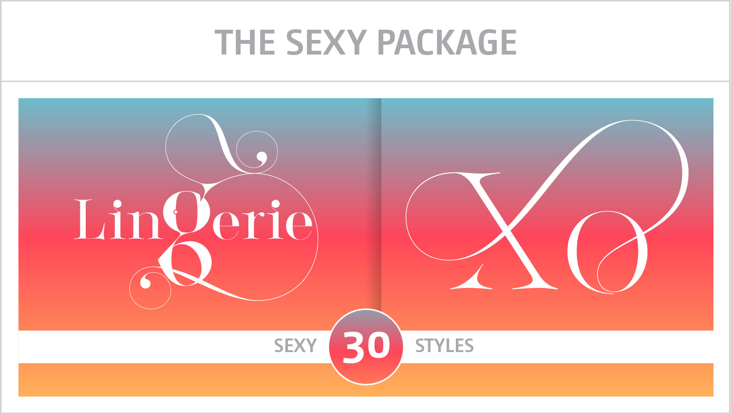 The Sexy Fonts Package by Moshik Nadav Fashion Typography NYC