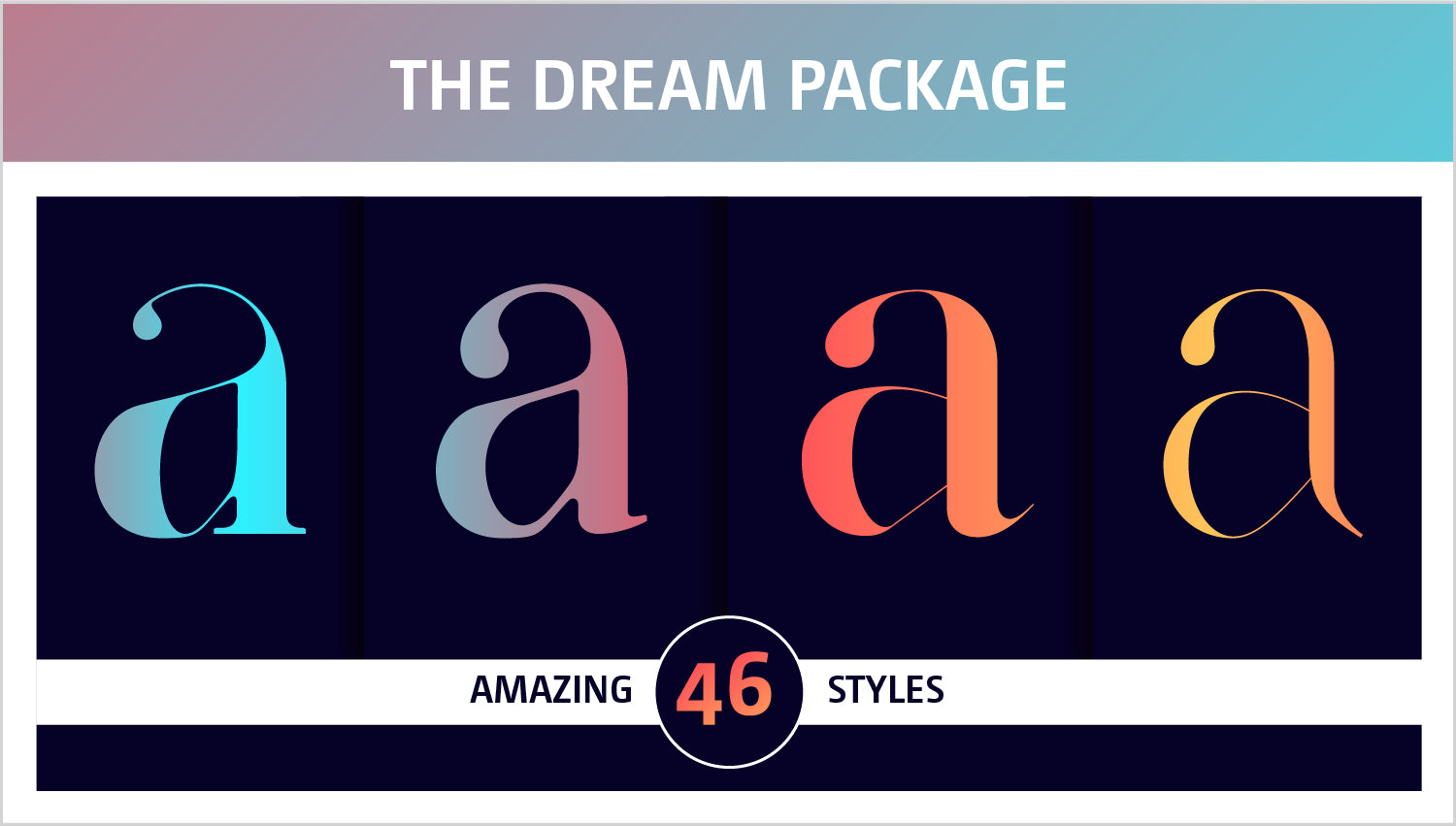 The Dream Fonts luxury package by Moshik Nadav Fashion Typography NYC