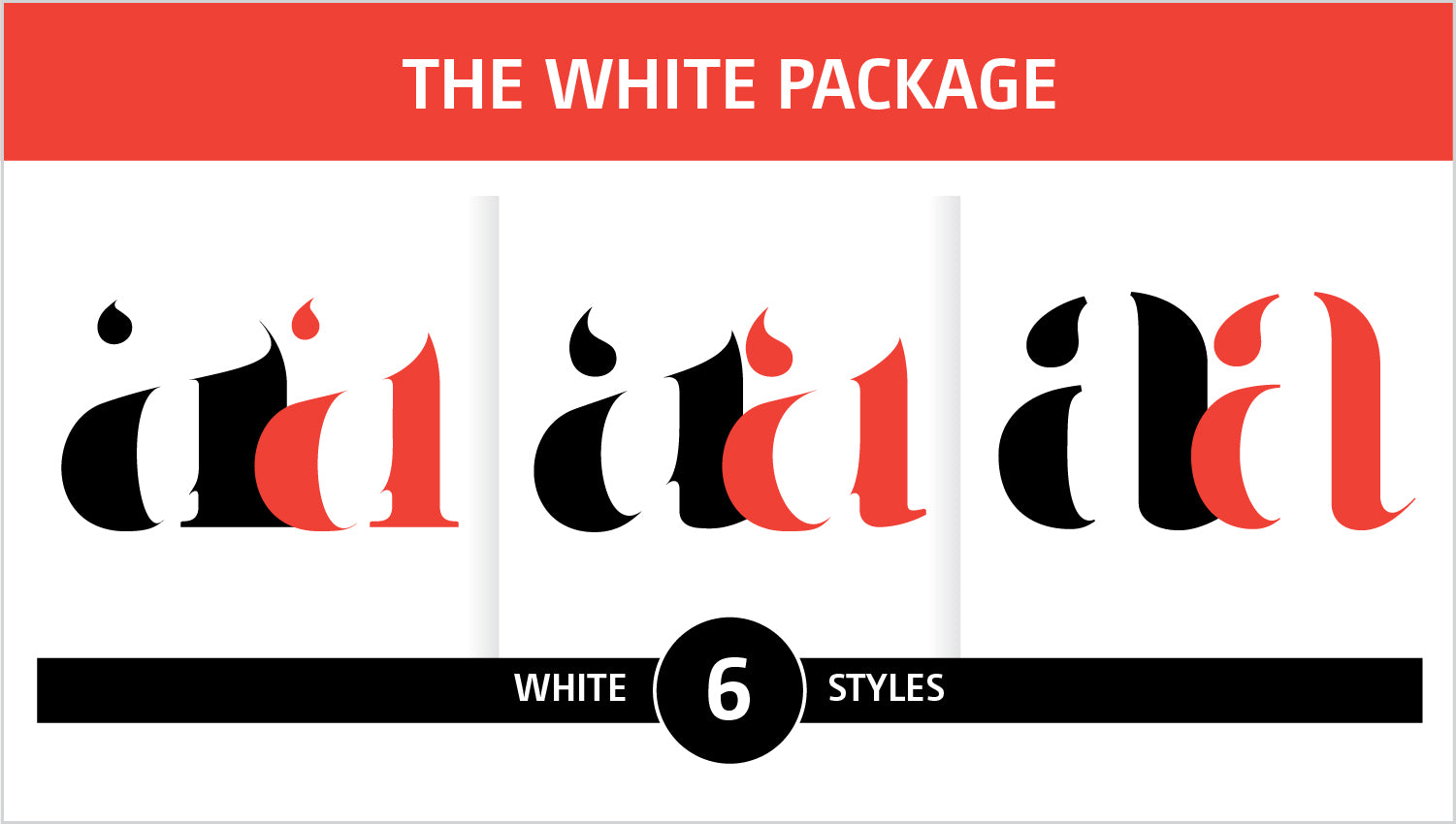 The White Fonts Package by Moshik Nadav Fashion Typography NYC