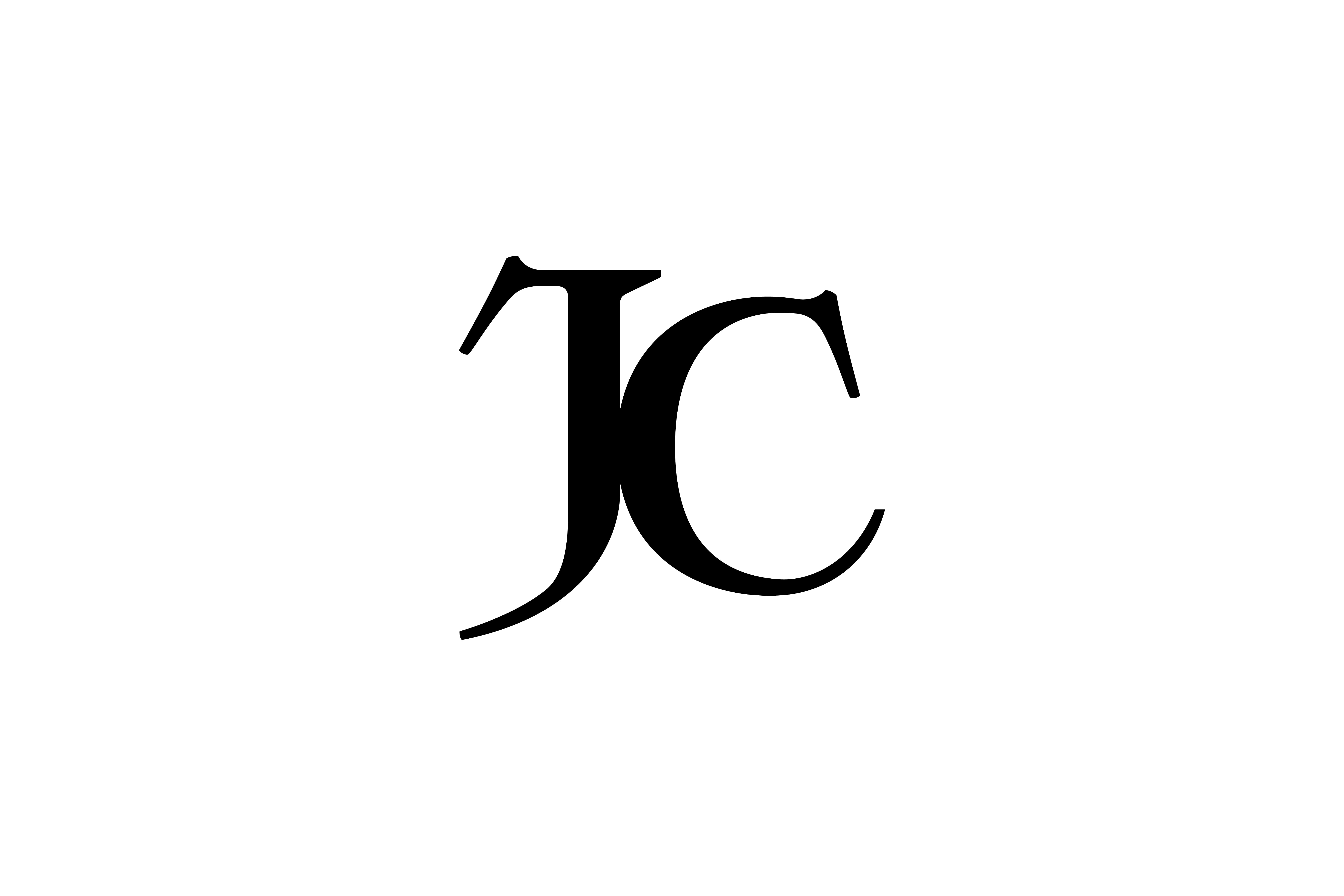 Fashion Typography JC logo - Moshik Nadav