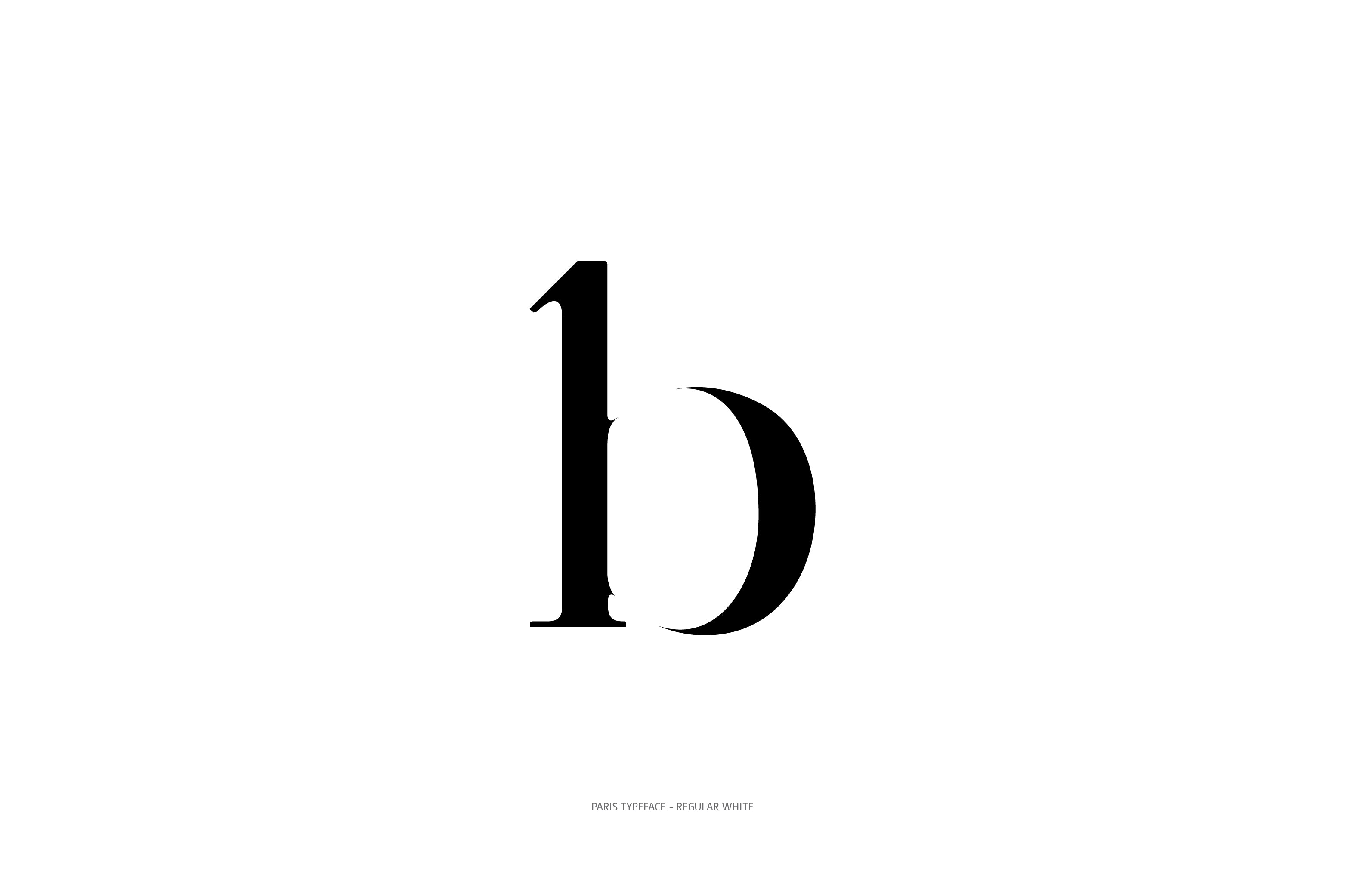 Paris Typeface Regular White b