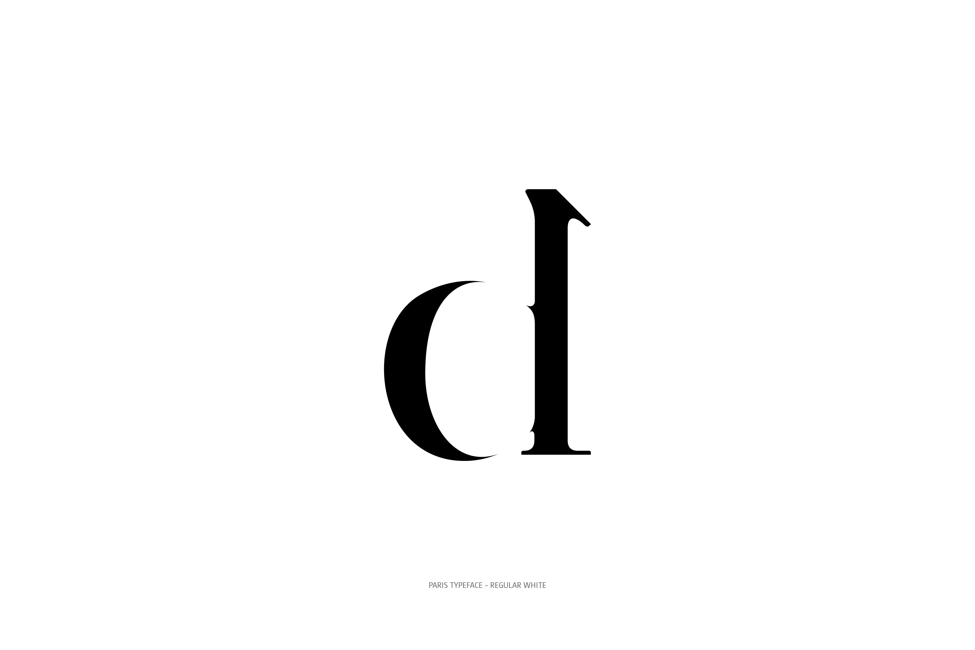 Paris Typeface Regular White d