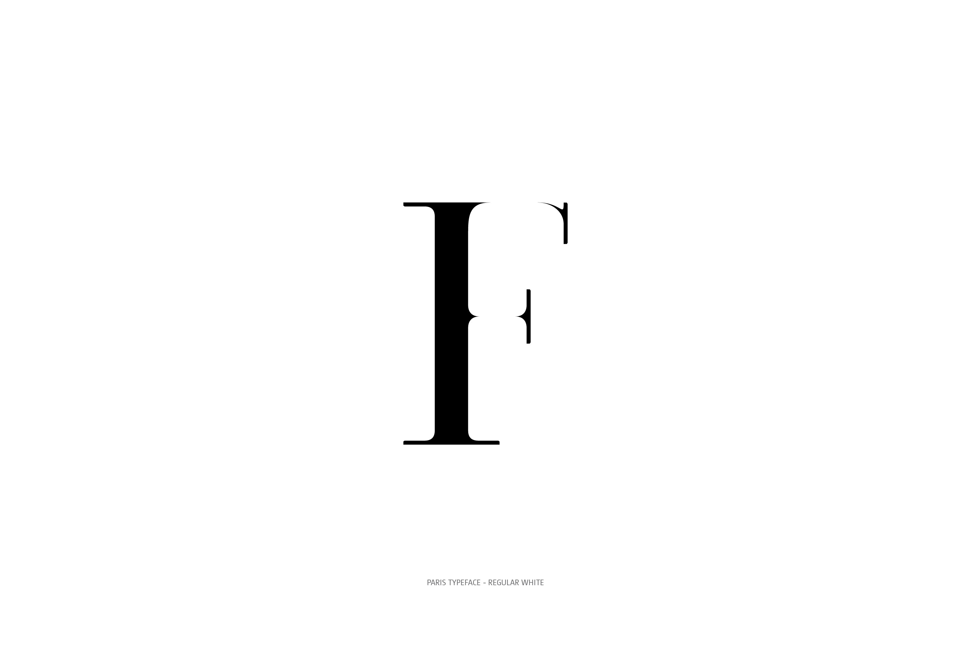 Paris Typeface Regular White F