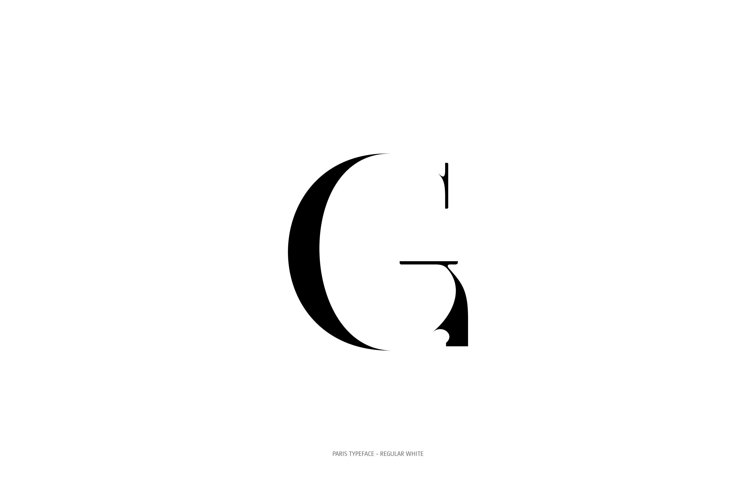 Paris Typeface Regular White G