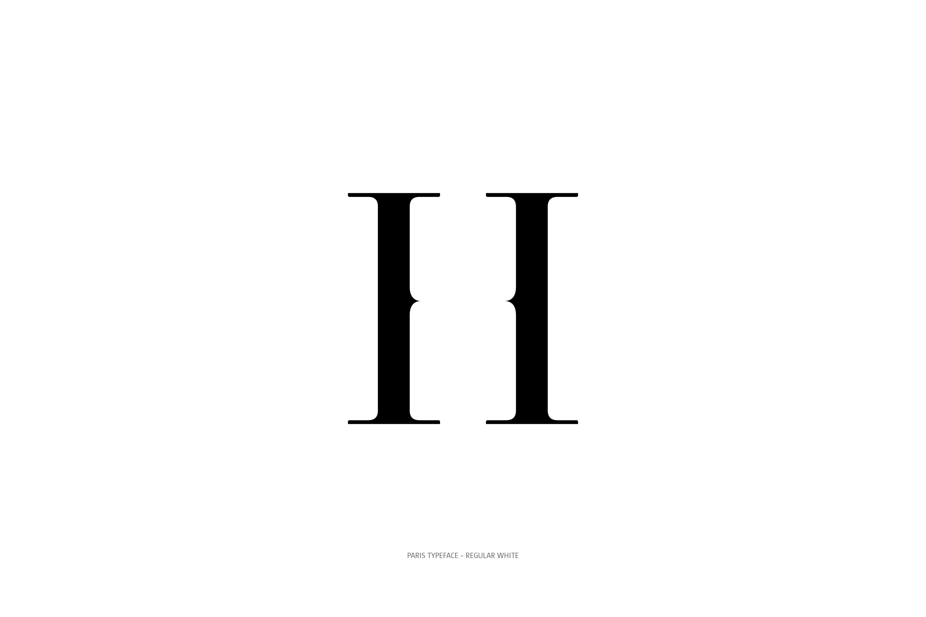 Paris Typeface Regular White H