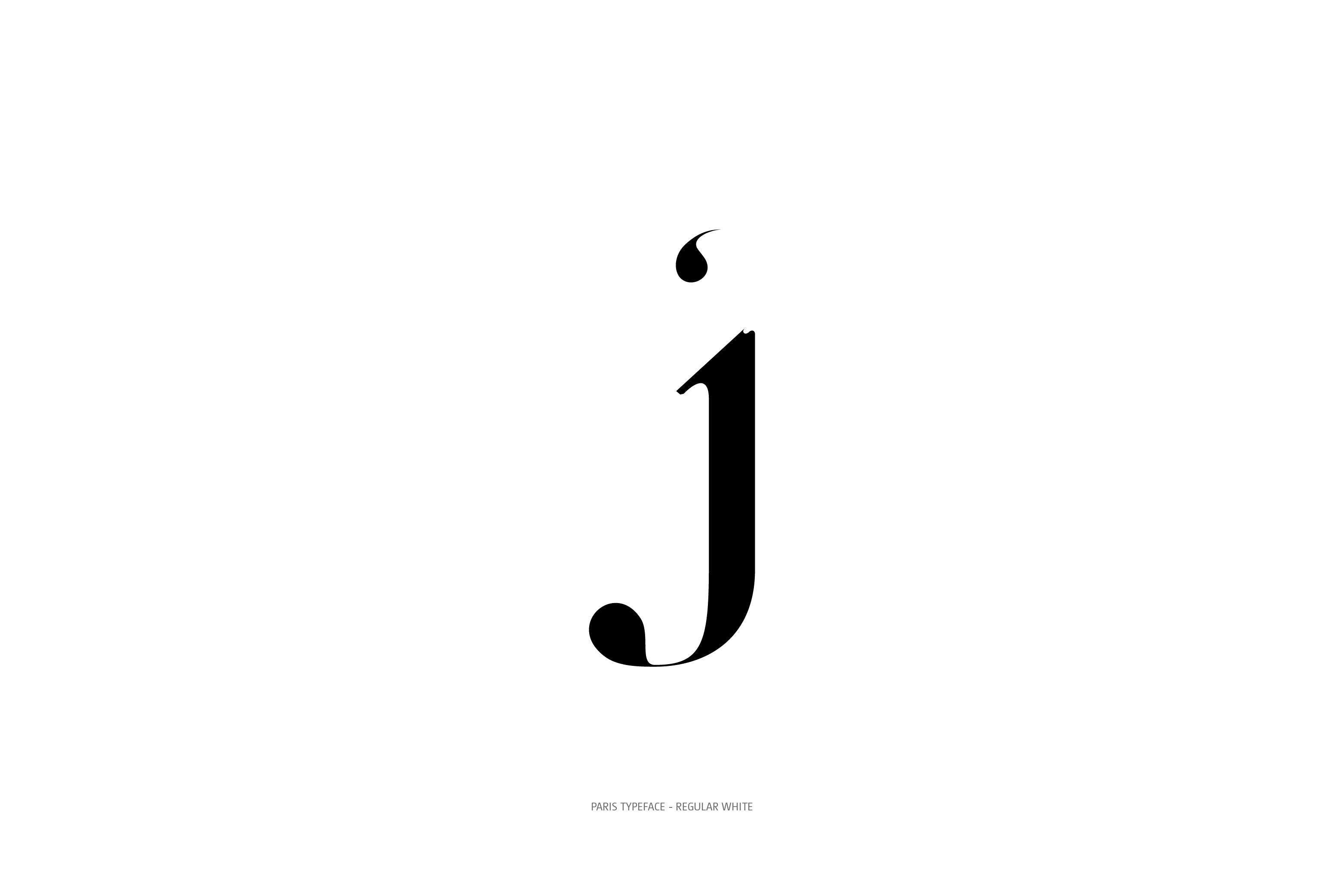 Paris Typeface Regular White j