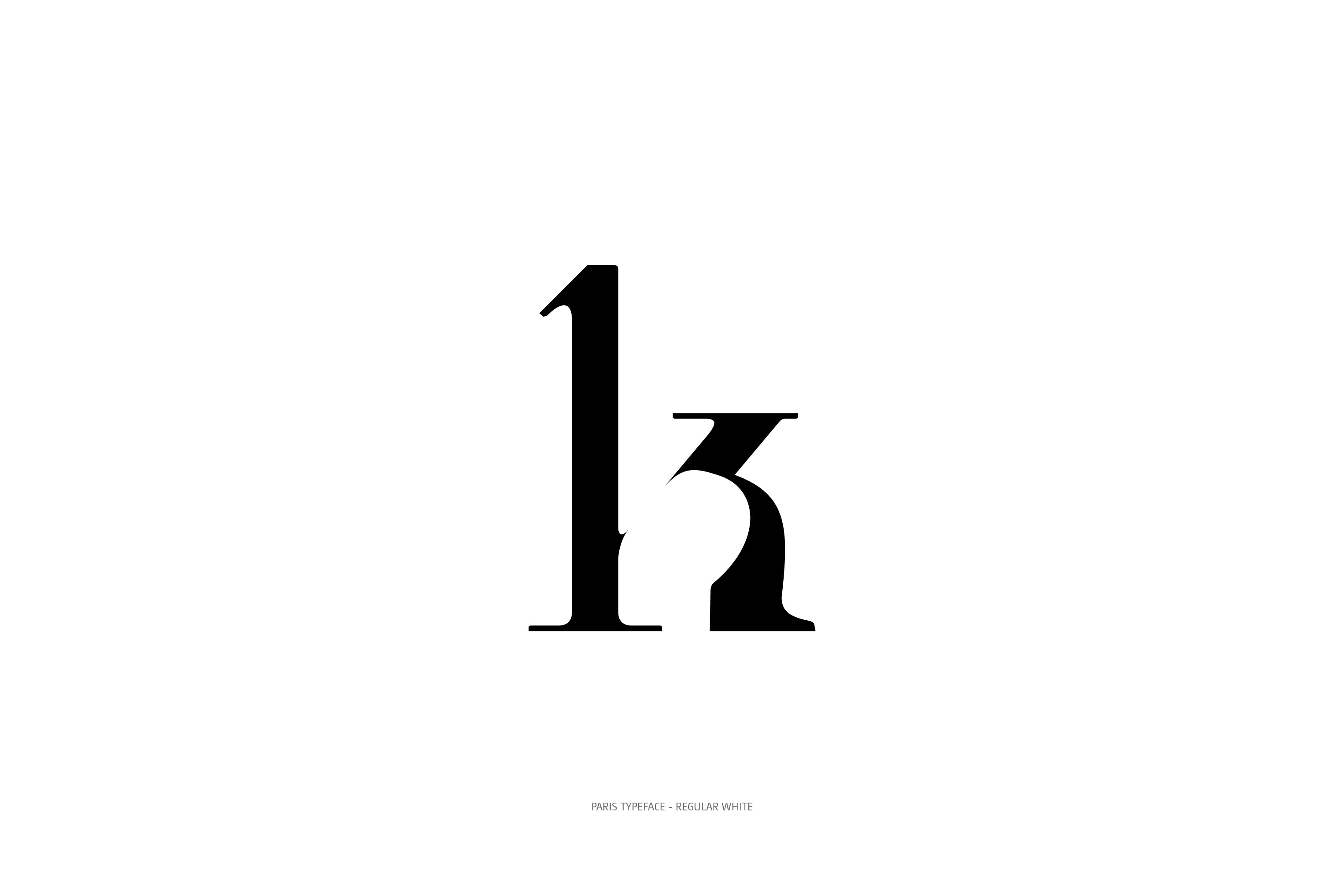 Paris Typeface Regular White k