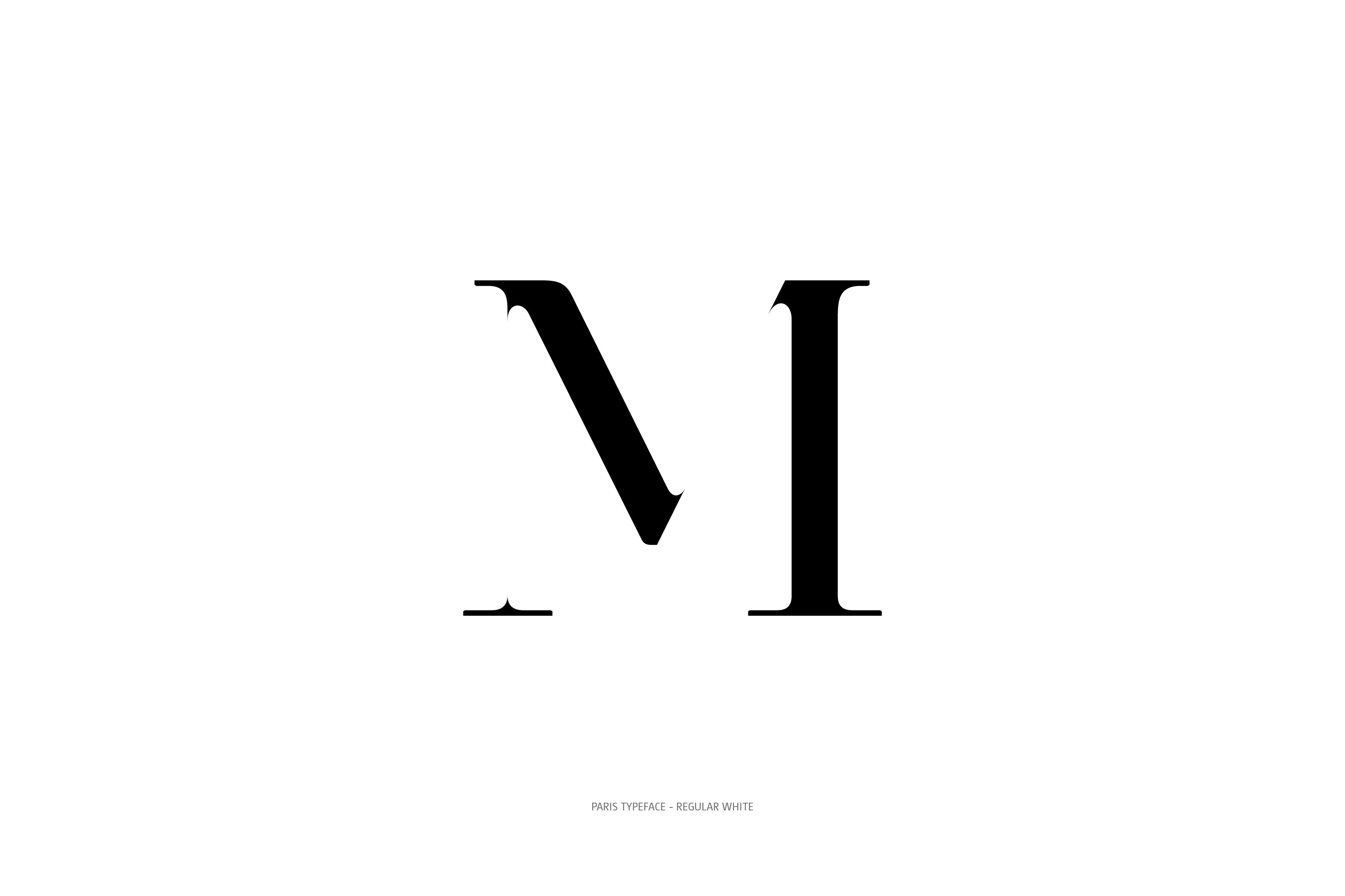 Paris Typeface Regular White M