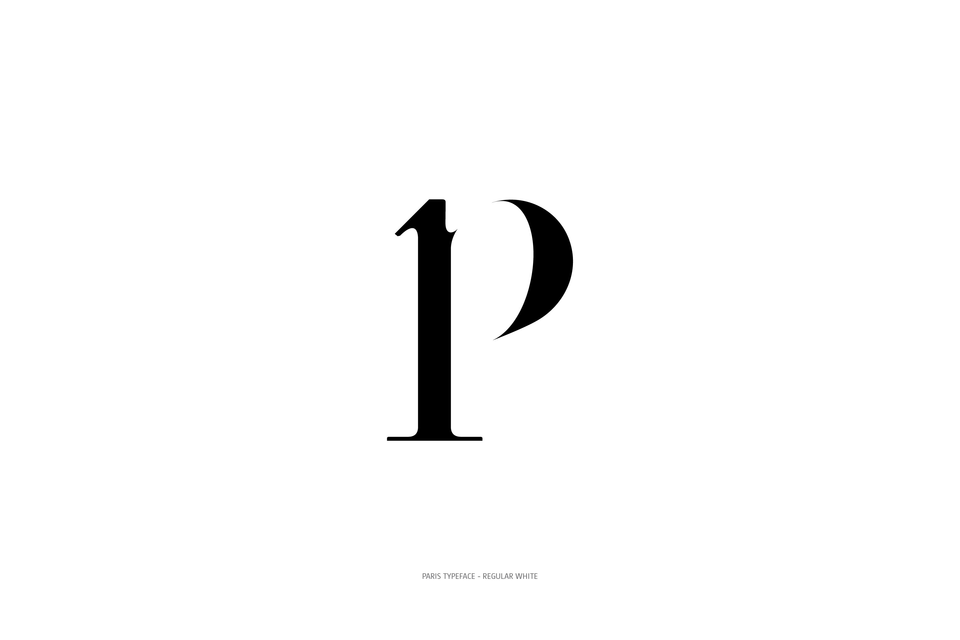 Paris Typeface Regular White p