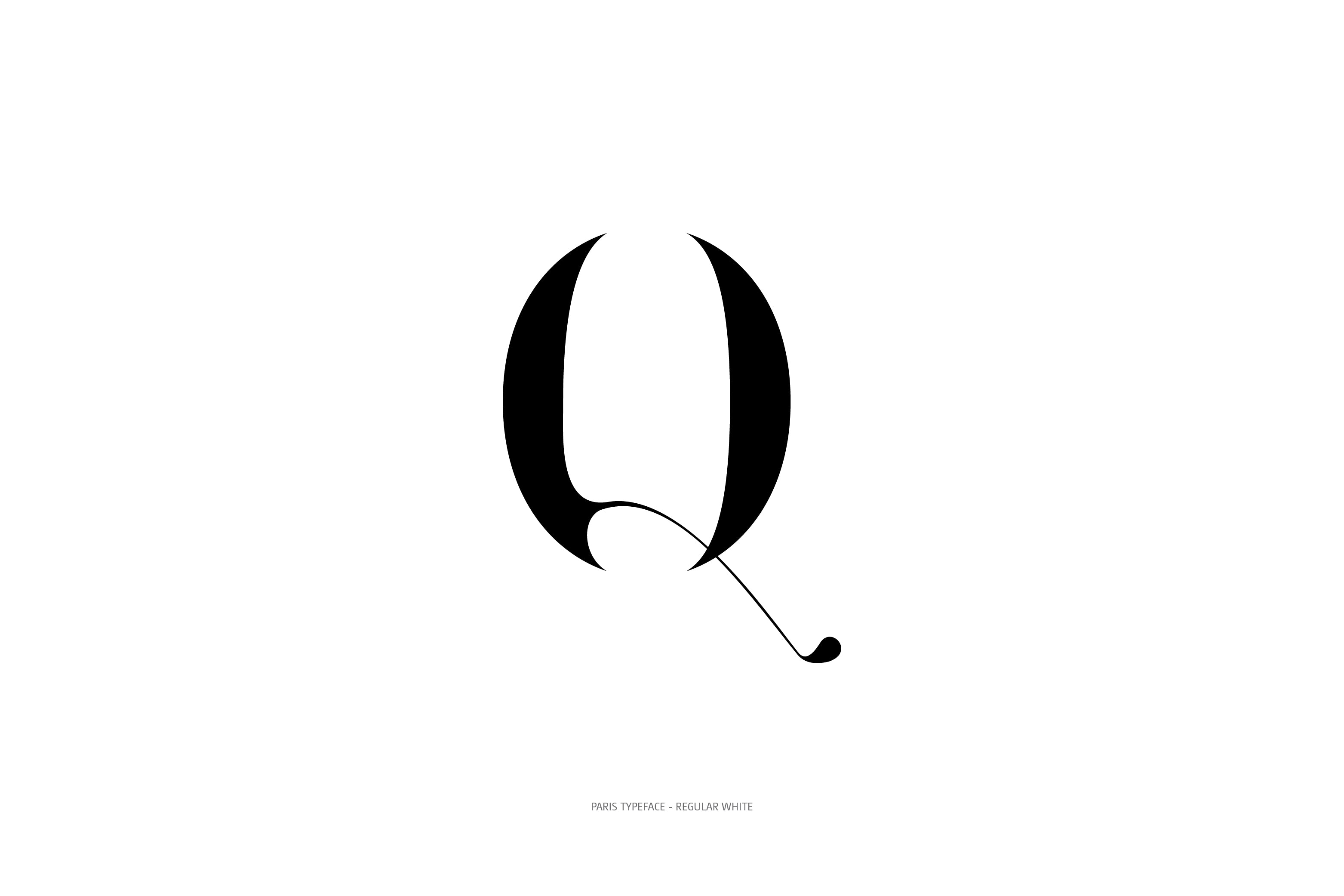 Paris Typeface Regular White Q