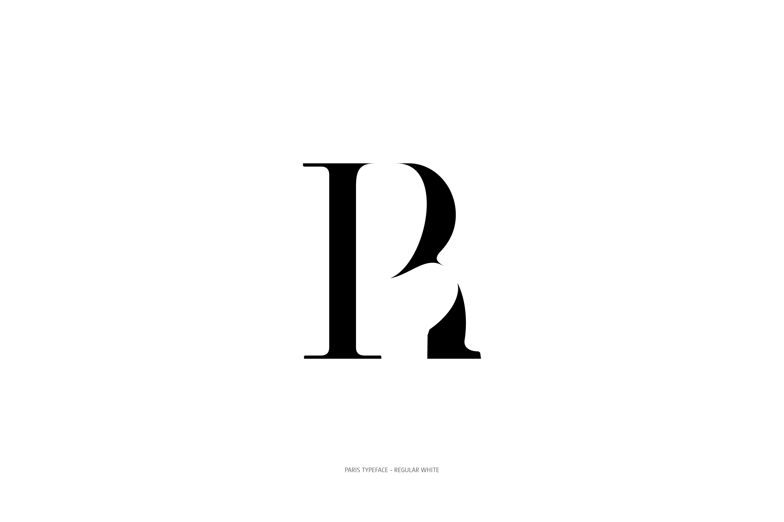 Paris Typeface Regular White R