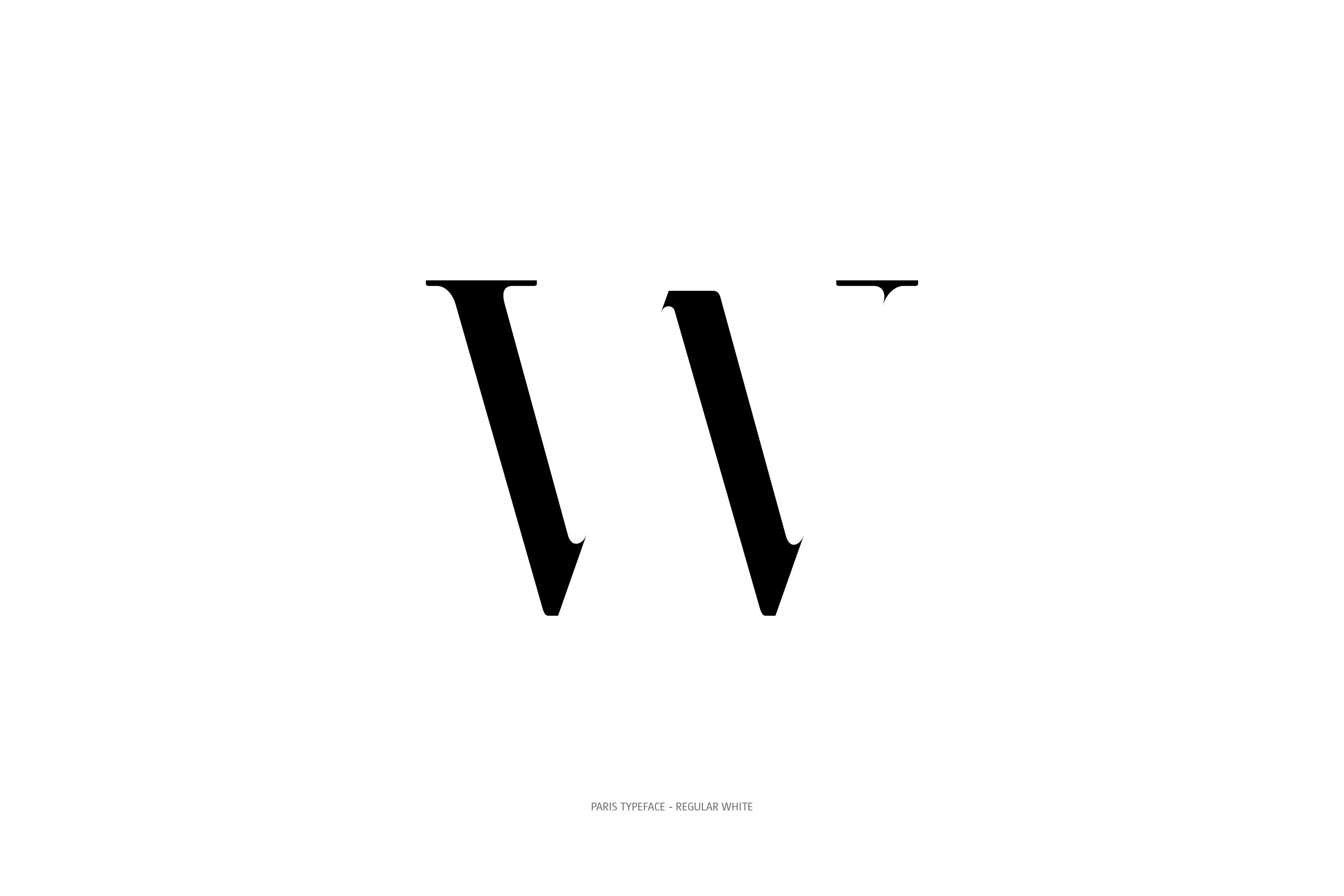 Paris Typeface Regular White W