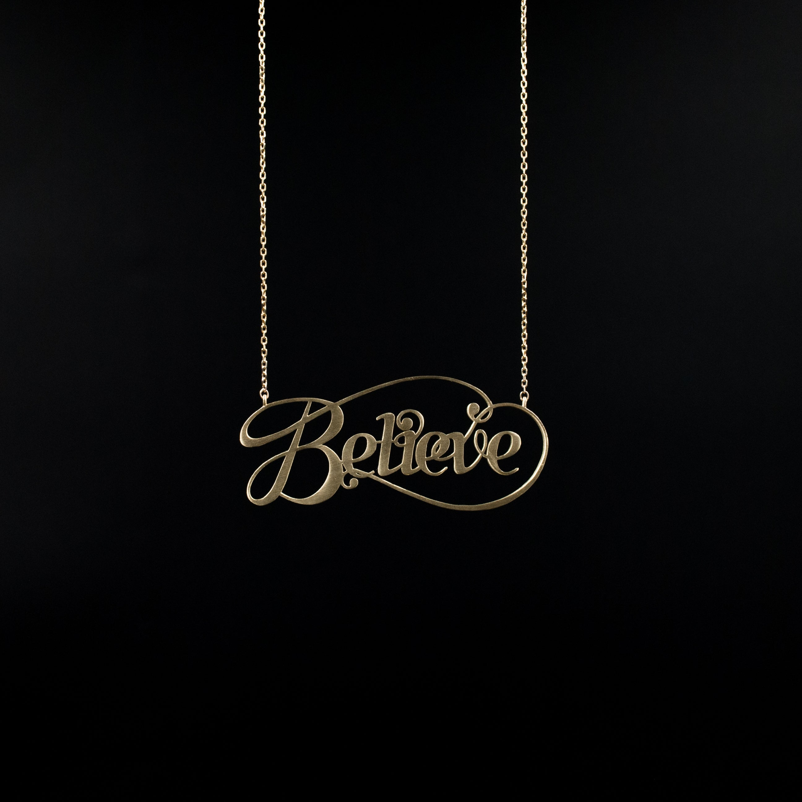 Believe Necklace - Designed by Moshik Nadav Fashion Typography