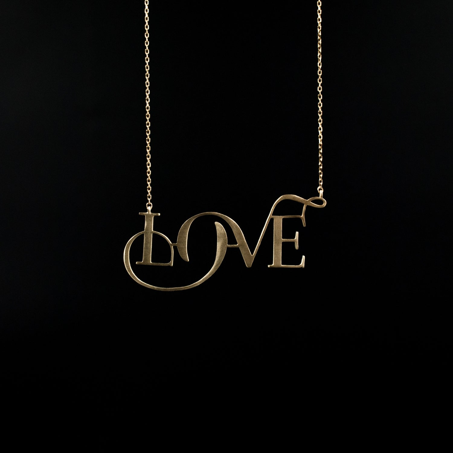 Love Necklace - Designed by Moshik Nadav Fashion Typography