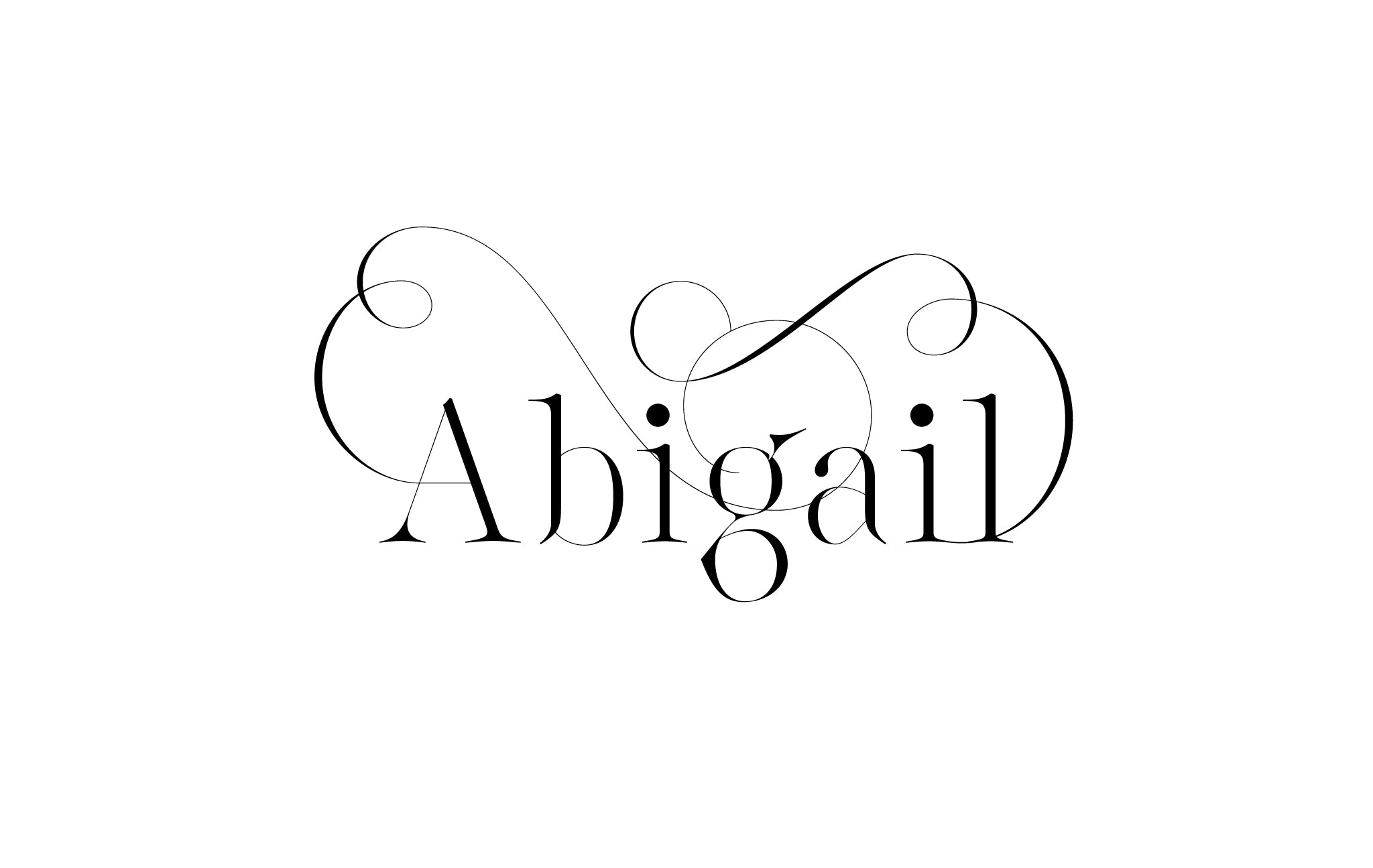 Lingerie XO Sexy Typeface for Fashion with amazing Ligatures by Moshik Nadav Typography - Abigail