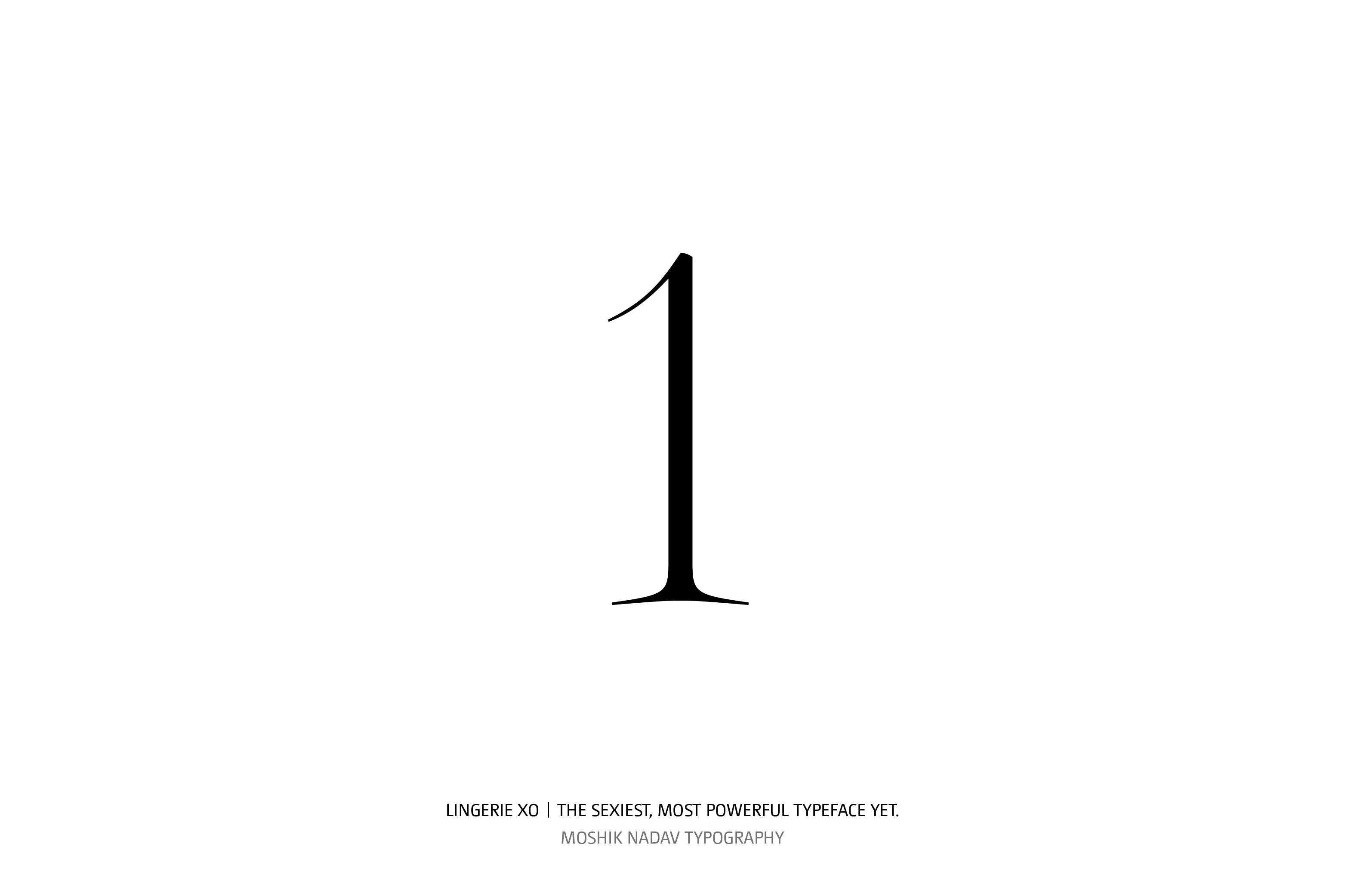 Lingerie XO Super Sexy Typeface - Moshik Nadav Typography number one