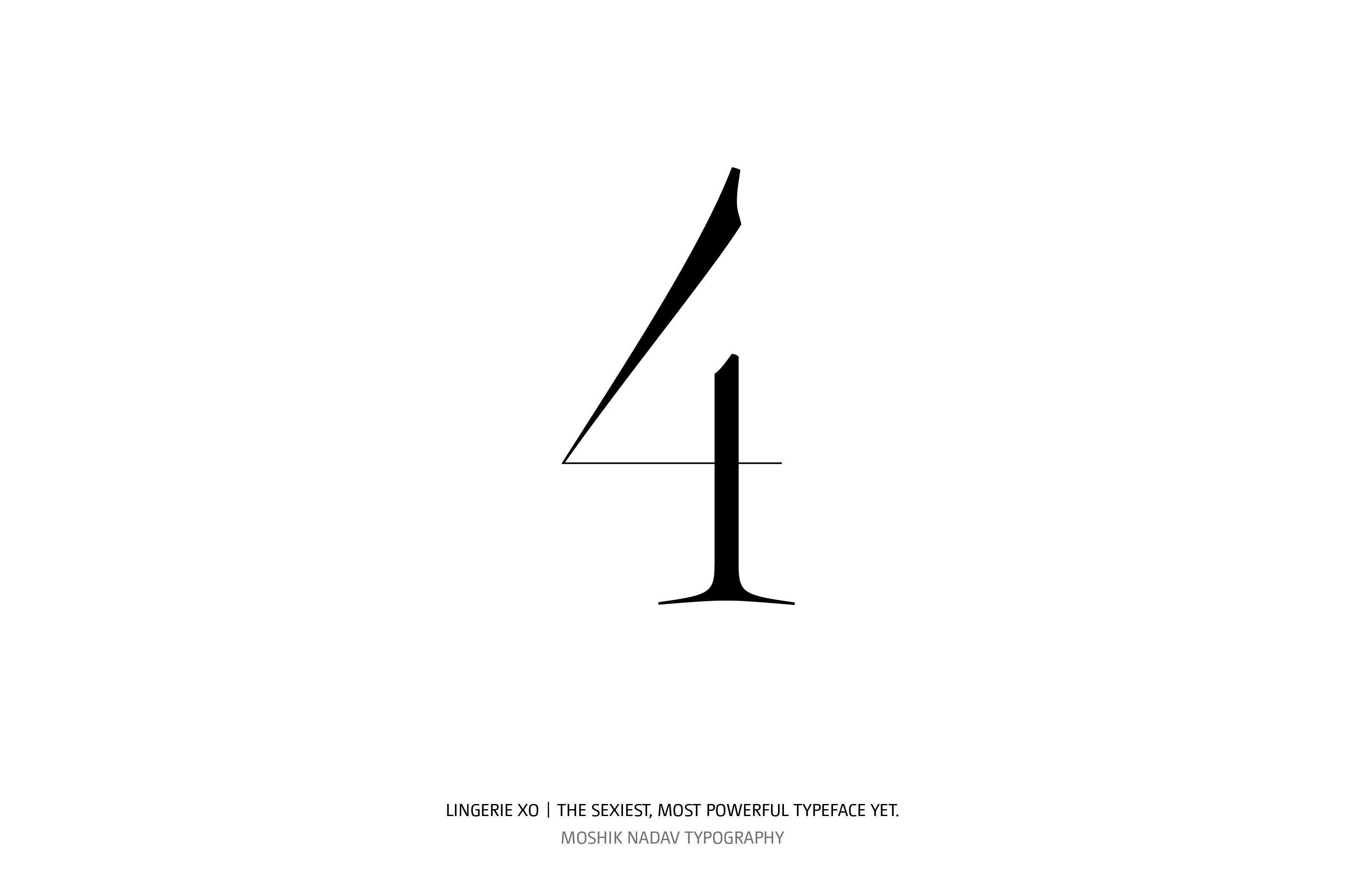 Lingerie XO Super Sexy Typeface - Moshik Nadav Typography number four