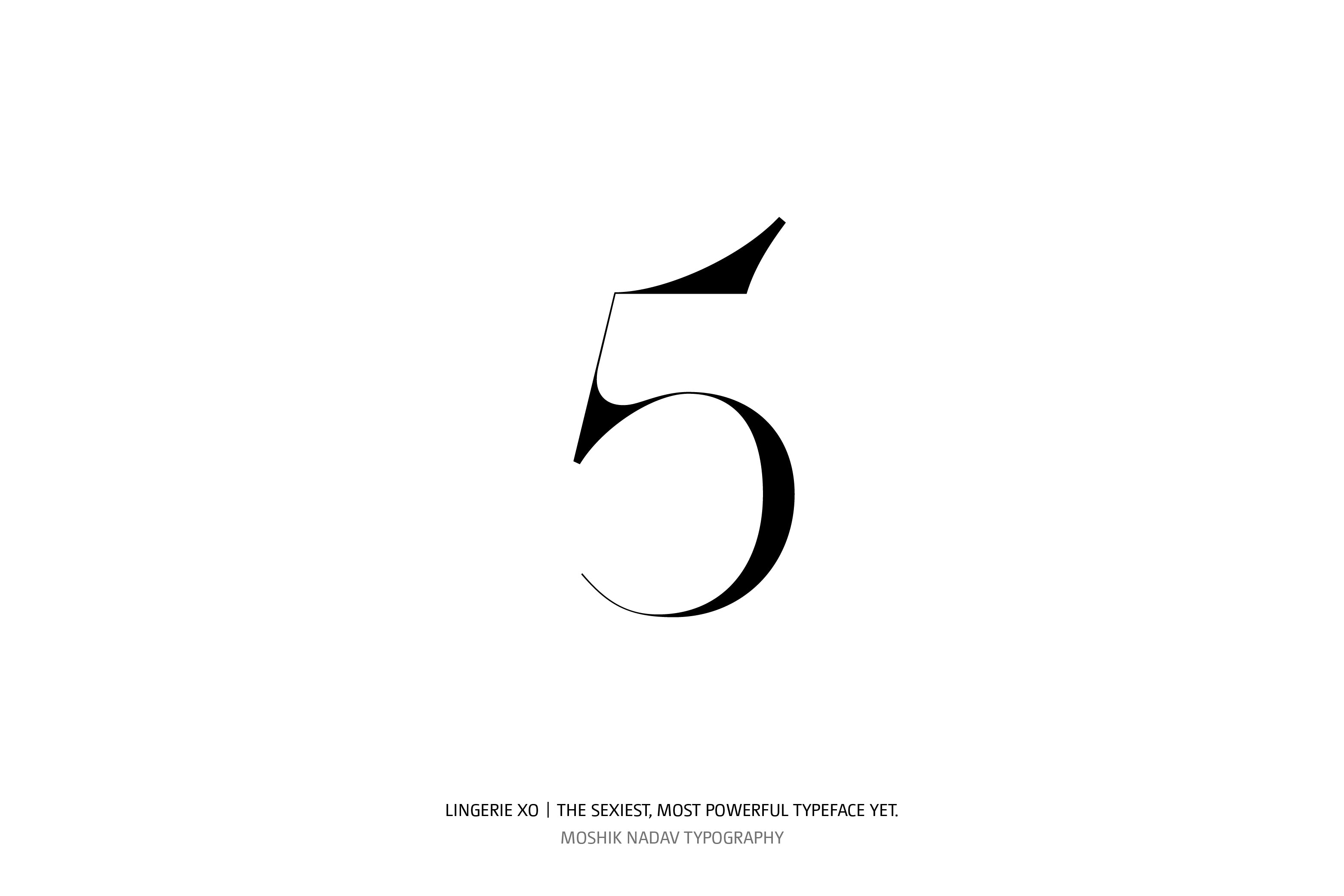 Lingerie XO Super Sexy Typeface - Moshik Nadav Typography number five