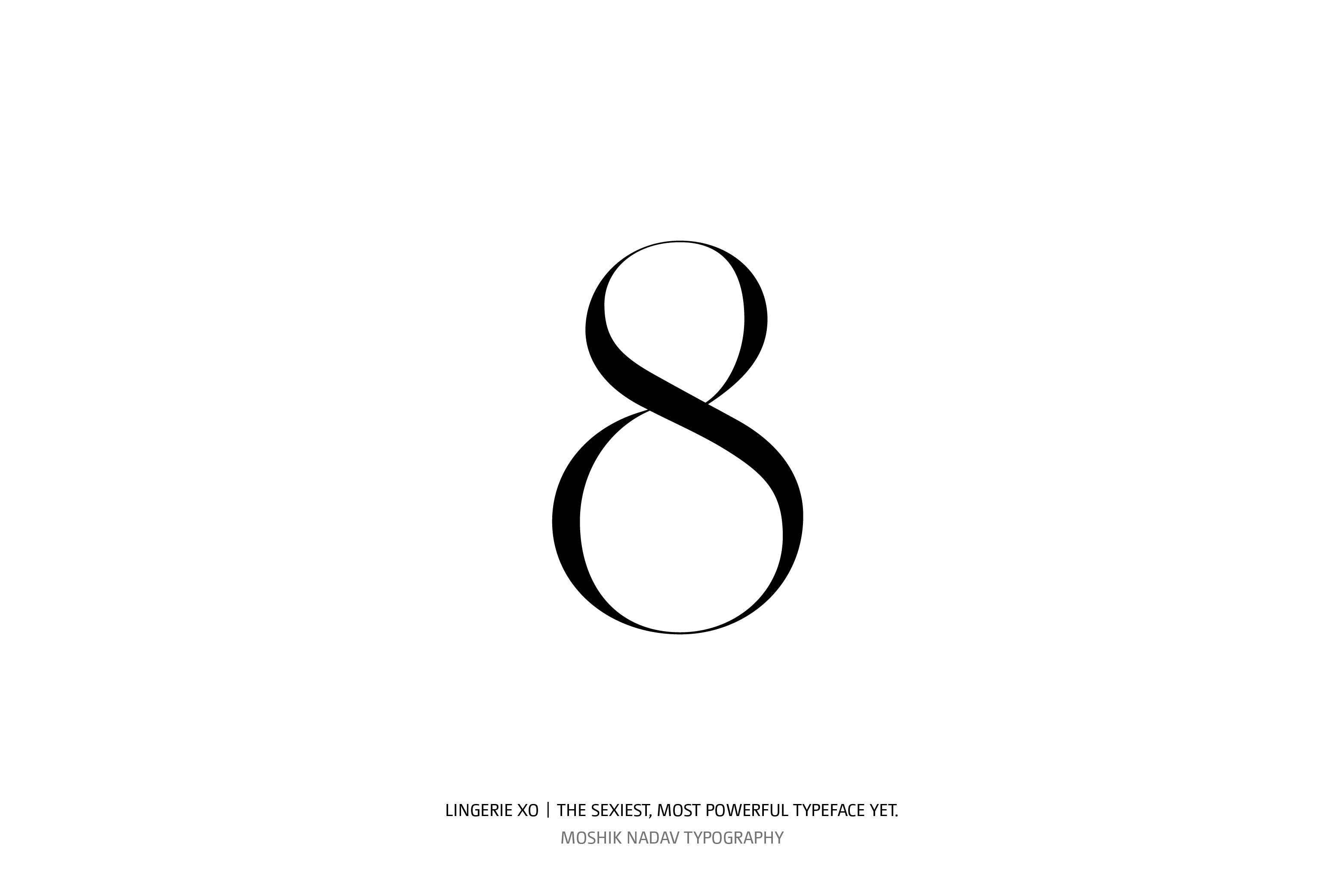 Lingerie XO Super Sexy Typeface - Moshik Nadav Typography number eight