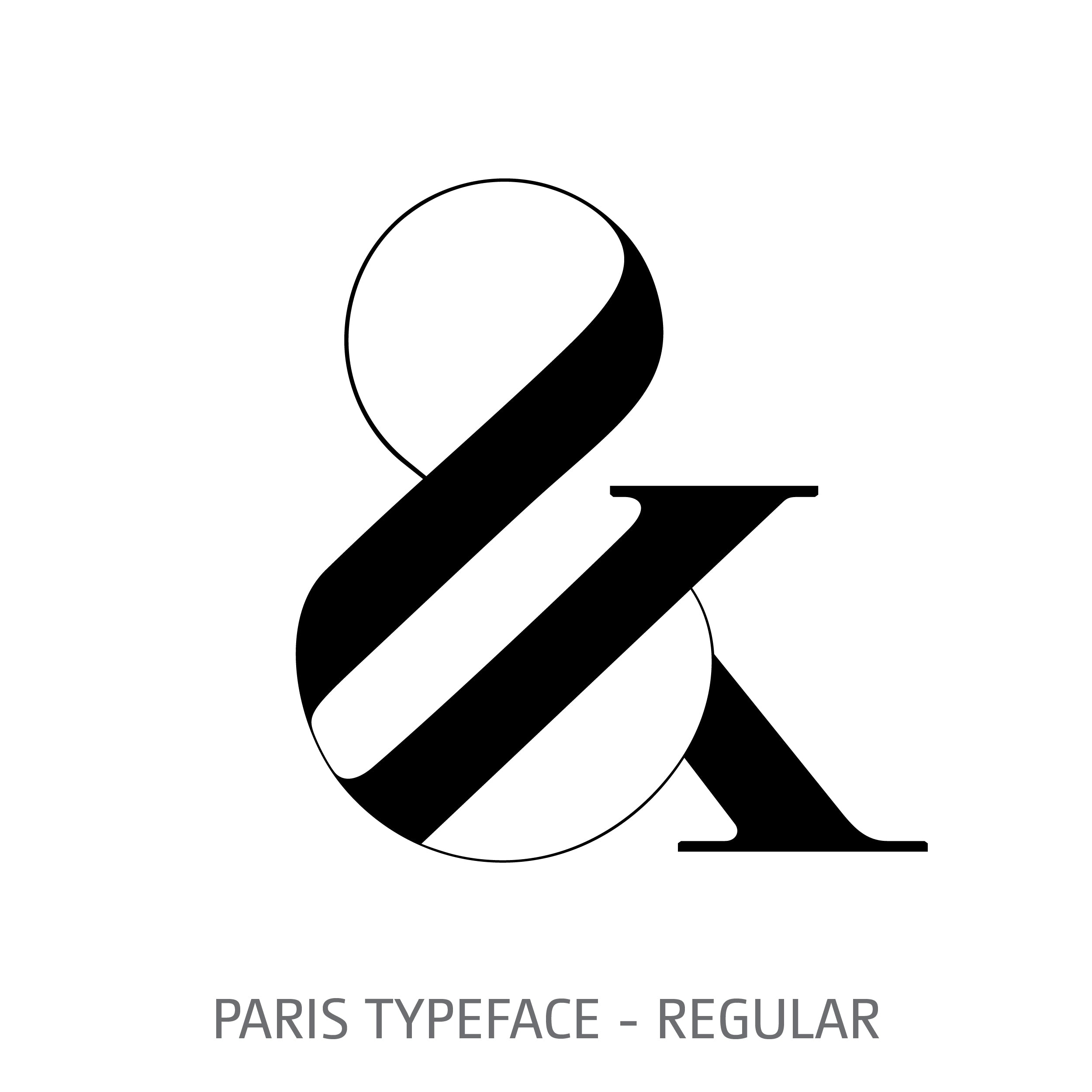 Paris Typeface Regular Style