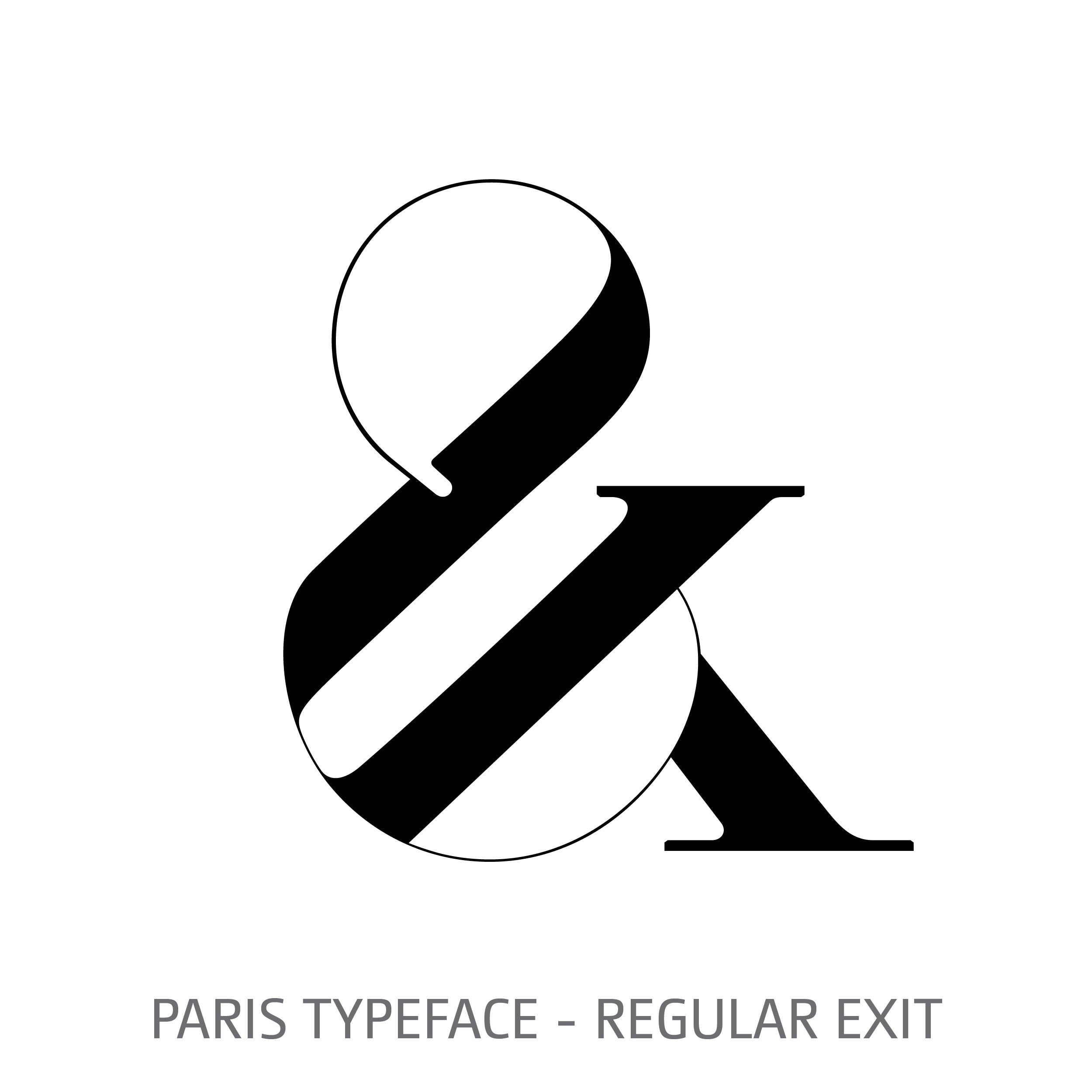 Paris Typeface Regular Exit Style