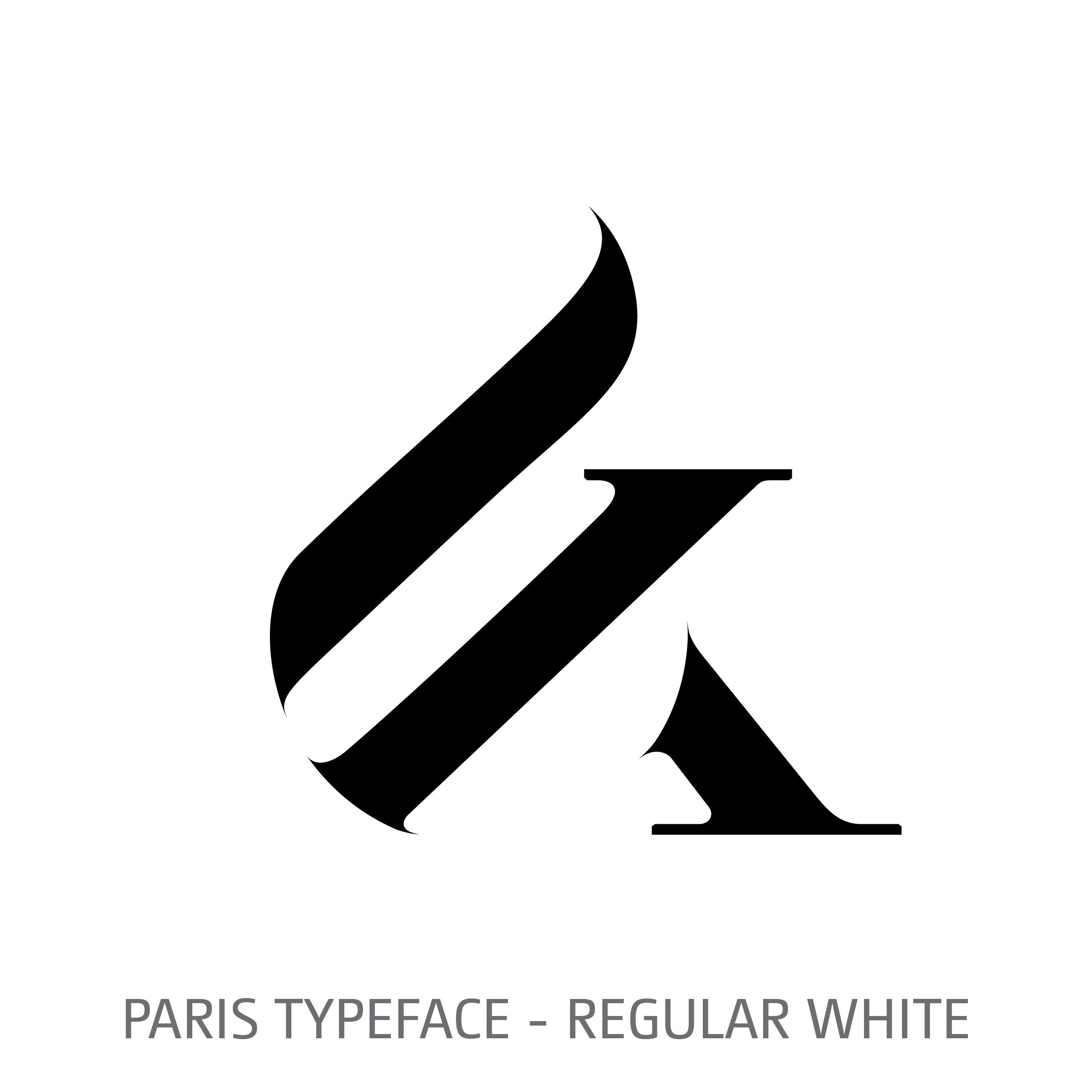 Paris Typeface Regular White Style