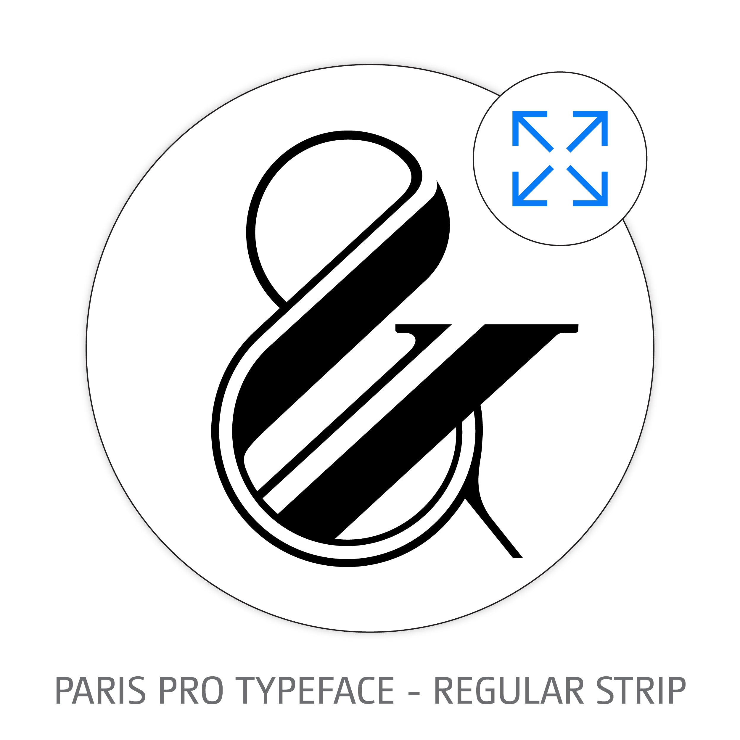 Paris Pro Typeface Regular Strip Style