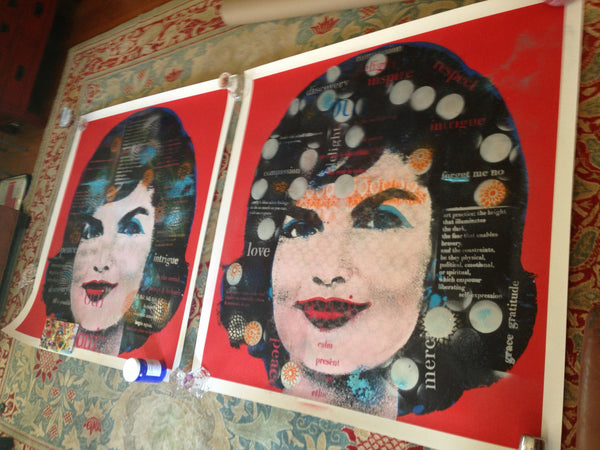 Jackie O + Warhol + kellyannart appropriation